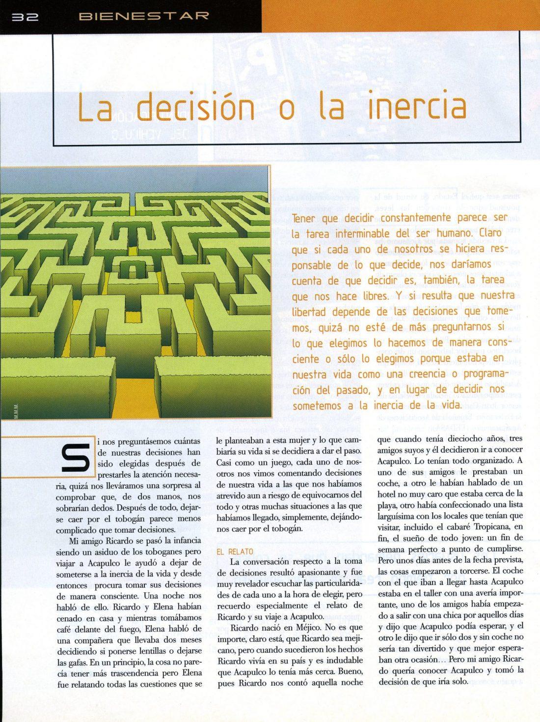 La decisión o la inercia 1